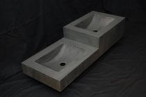 2 bowl counter top washbasin in zinc DOUBLE SINKY Dezinc