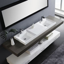 2 bowl resin built-in washbasin DUET The Bath Collection