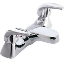2 hole bath-tub double handle mixer tap AQUATIONS Twyford Bathrooms