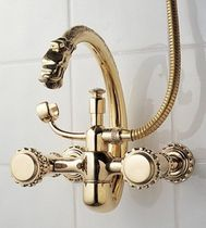 2 hole wall-mounted double handle mixer tap for bath-tub POMPADOUR - 2235 Herbeau