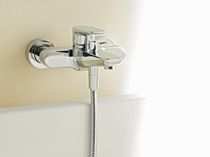 2 hole wall-mounted double handle mixer tap for bath-tub SUBWAY Villeroy &amp; Boch