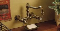 2 hole wall-mounted kitchen double handle mixer tap Thétis Croisillons 2 trous mural MARGOT