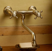 2 hole wall-mounted kitchen double handle mixer tap Circé Croisillons 2 trous mural MARGOT