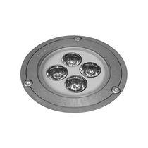 Recessed floor light fixture / LED / round / outdoor