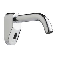 Washbasin single tap / wall-mounted / metal / electronic