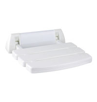 Folding shower seat / plastic / wall-mounted