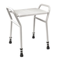 Plastic shower stool / for healthcare facilities / handicapped / white