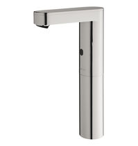 Bathroom sink single tap / deck-mounted / metal / electronic