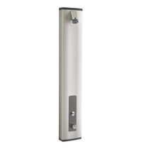 Thermostatic shower column / self-closing / commercial