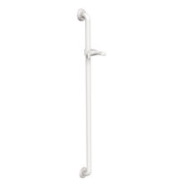 Aluminum grab bar / straight / wall-mounted / commercial