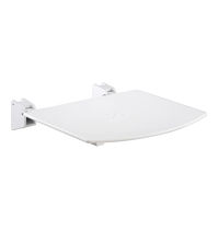 Folding shower seat / polypropylene / wall-mounted