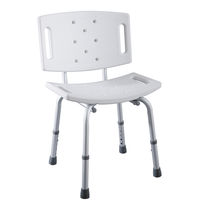 Plastic shower stool / aluminum / for healthcare facilities / handicapped