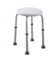Plastic shower stool / aluminum / for healthcare facilities