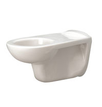 Wall-hung toilet / ceramic / handicapped / for public sanitary facilities