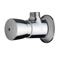 Shower single tap / wall-mounted / chromed metal / self-closing