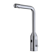 Bathroom sink mixer tap / chromed metal / electronic / bathroom