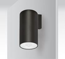 Wall-mounted emergency light / round / LED / aluminum