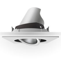 Recessed ceiling spotlight / indoor / LED / square