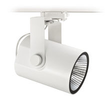 LED track light / round / cast aluminum / plastic