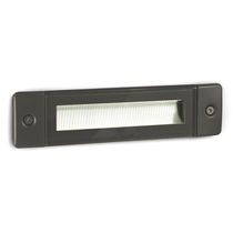 Recessed wall light fixture / LED / linear / outdoor