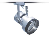 Halogen track light / round / metal / commercial