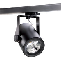 LED track light / round / cast aluminum / polycarbonate
