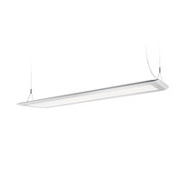 Hanging light fixture / LED / rectangular / extruded aluminum