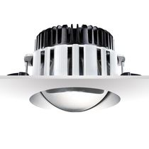 Recessed downlight / LED / round / cast aluminum