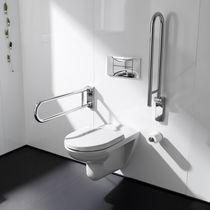 Metal grab bar / U-shaped / wall-mounted / bathroom