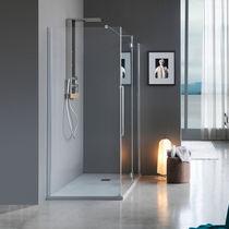 Swing shower screen / fixed / corner