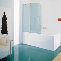 Swing bath screen