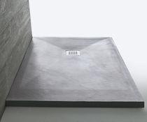 Rectangular shower base / stone / custom / flush
