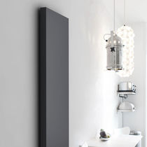 Hot water radiator / electric / sheet steel / contemporary