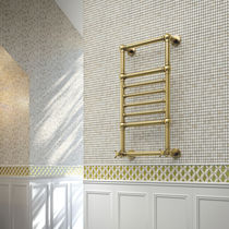 Hot water radiator / electric / brass / traditional