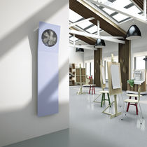 Hot water radiator / sheet steel / contemporary / wall-mounted