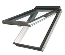 Projection roof window / pivoting / PVC / double-glazed