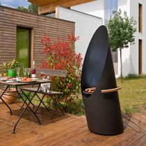 Charcoal barbecue / wood-burning / steel