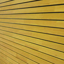 Wooden cladding / grooved / sheet