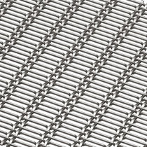 Facade woven wire fabric / solar shading / for curtain walls / stainless steel