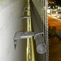 Metal fastening system / for facade cladding / exterior