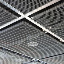 Wire mesh suspended ceiling / stainless steel / panel / acoustic
