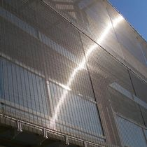 Solar shading woven wire fabric / for walls / for curtain walls / stainless steel
