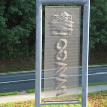 Stainless steel signboard / outdoor