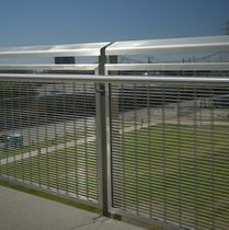 Outdoor railing / mesh / metal / with bars