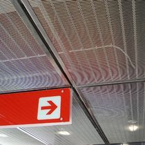 Stainless steel suspended ceiling / wire mesh / panel / acoustic