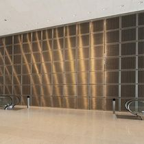 Wall-mounted decorative panel / metal wire / stainless steel / metal look