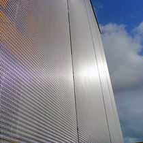 Facade woven wire fabric / solar shading / for ceilings / railing