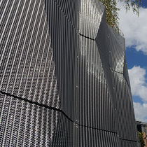 Stainless steel mesh cladding / 3D / mesh / metal look