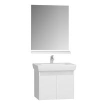 Wall-hung washbasin cabinet / teak / melamine / contemporary