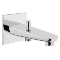 Chrome bathtub spout